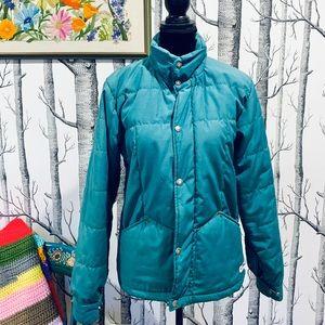 Vintage Men North Face Green Teal Down Puff Jacket